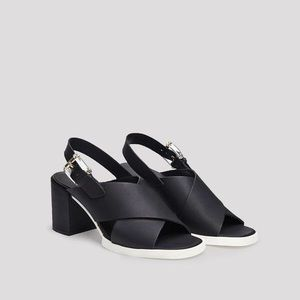 Miista Delilah Leather Block Heel Slingback